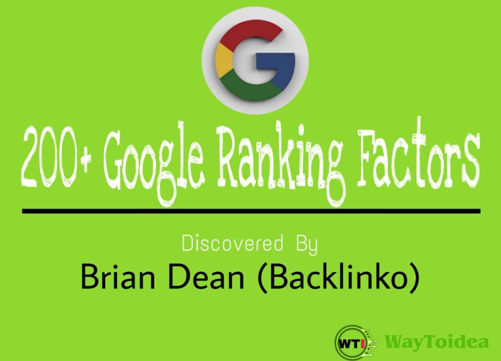 200+ Google Ranking Factors, Google ranking factors, ranking factors