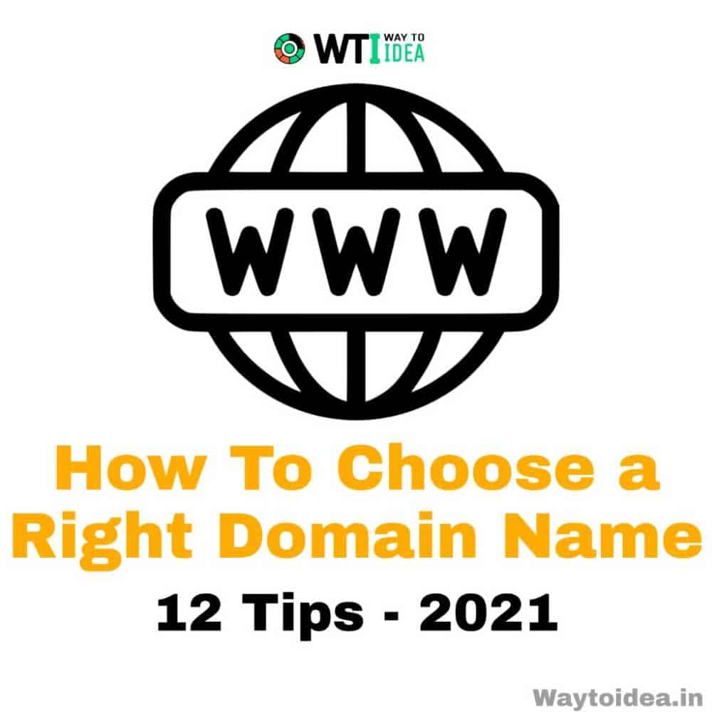 How to choose a right domain name 2021