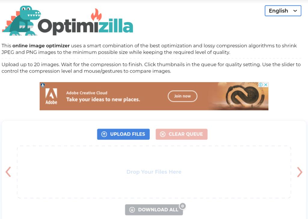 Optimzilla Image compressor