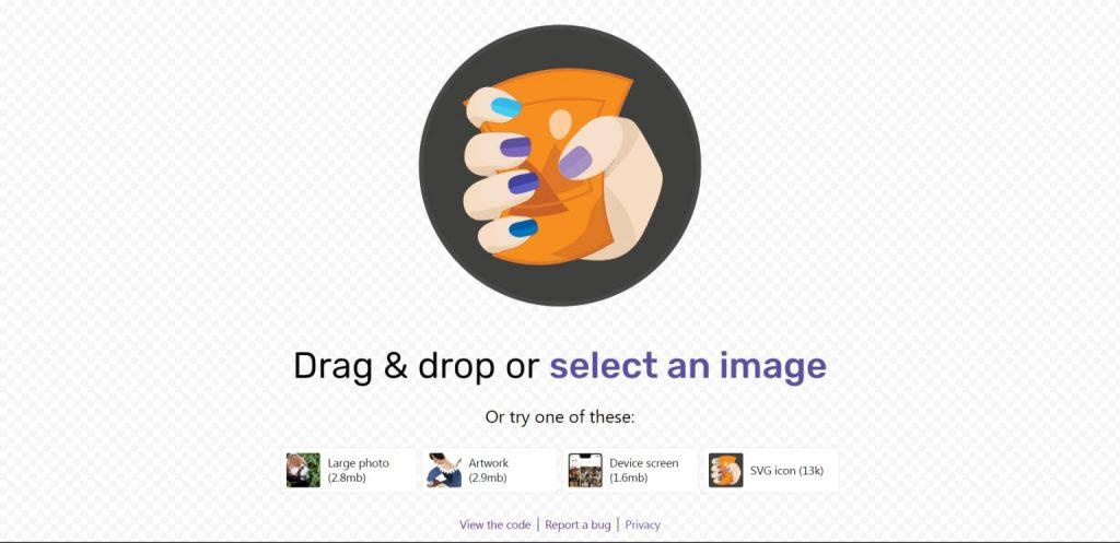Squoosh- image compressor by google