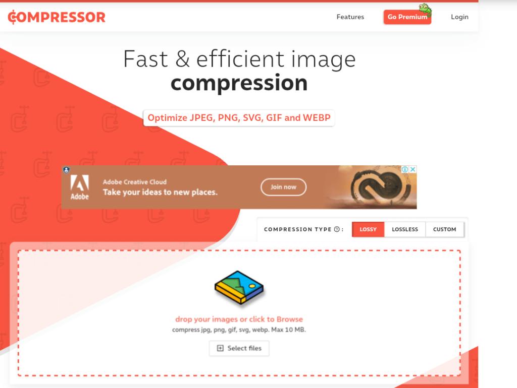 compressor.io - fast & image compression